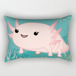 Axolotl baby kawaii Rectangular Pillow