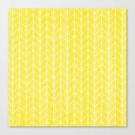 Yellow Herringbone Canvas Print