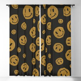 90's Smiley Face Pattern Blackout Curtain