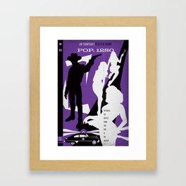 Hardboiled :: Pop. 1280 :: Jim Thompson Framed Art Print
