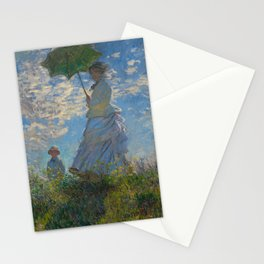 Claude Monet  -  Woman With A Parasol   Madame Monet And Her Son Stationery Cards