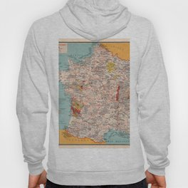 Gastronomy Map Of France 1932 Hoody
