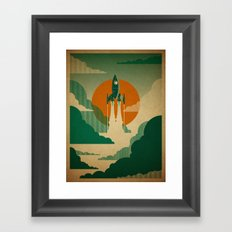 The Voyage (Green) Framed Art Print