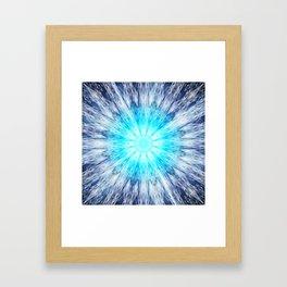 Blue Snowflake Mandala Framed Art Print
