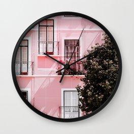 Pink Portals Wall Clock