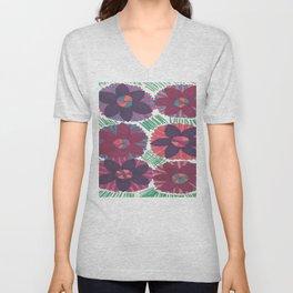 Tropical Blossoms Unisex V-Neck