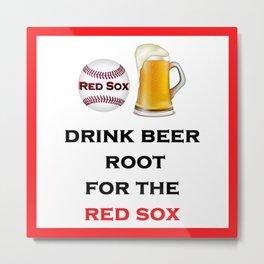 Red Sox Team Baseball Fans Beer Metal Print