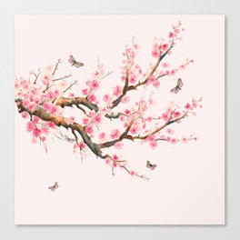 Pink Cherry Blossom Dream Canvas Print