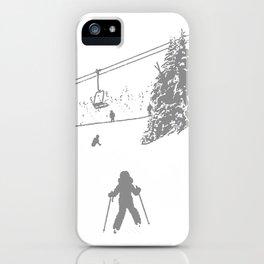 Little Skier - Grey iPhone Case