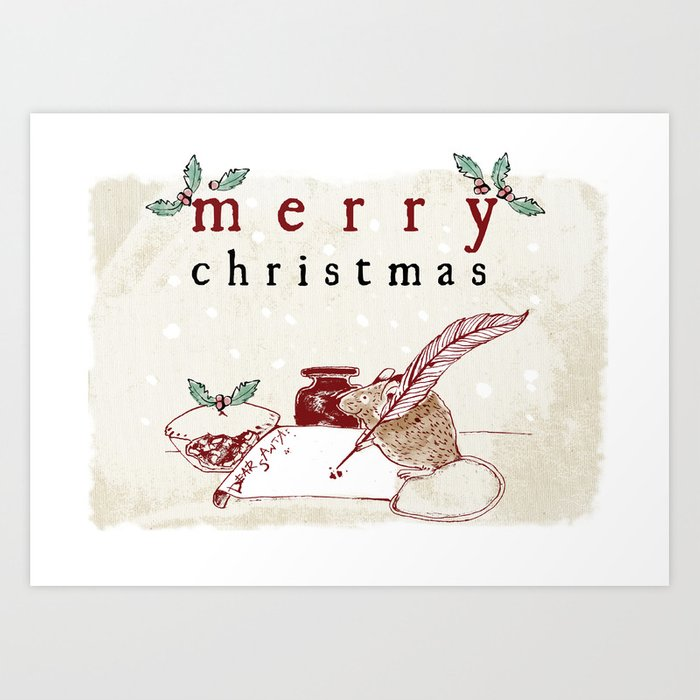 Dear Santa Christmas Card Art Print by emilystalley | Society6