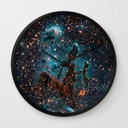 Pillars of Creation Nebula Wall Clock