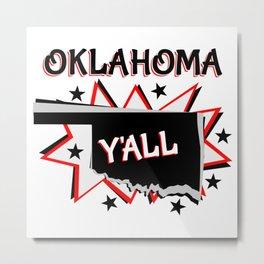 Oklahoma State Pride Metal Print