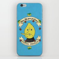 lemongrab iPhone & iPod Skins featuring LEMON GRAB LEMONS by Alyssa Leary