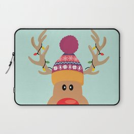 Rudolph Red Nosed Reindeer is looking at you Laptop Sleeve