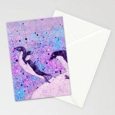 Up, Up and ahhhh Splash - Penguin Geometry Art Stationery Cards