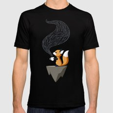 Fox Tea MEDIUM Black Mens Fitted Tee