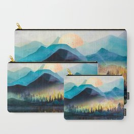 Mountain Lake Under Sunrise Carry-All Pouch