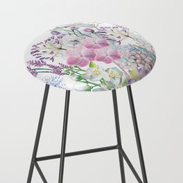 Spring Flowers Bouquet Bar Stool