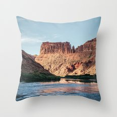 Cathedral Rocks on the River Throw Pillow