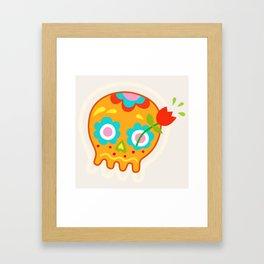Cute Sugar Skull Day of the Dead Framed Art Print