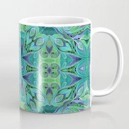 Turquoise abstract watercolor Coffee Mug
