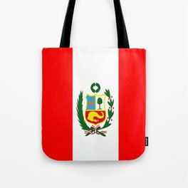 Flag of Peru Tote Bag