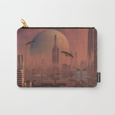 Futuristic City with Space Ships Carry-All Pouch