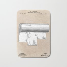 patent art Wheeler Wrapping of toilet paper 1894 Bath Mat