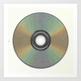The Compact Disc Art Print