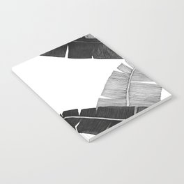 Banana Leaves BW Notebook
