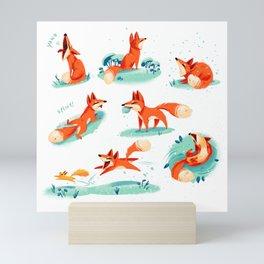 Foxy Poses Mini Art Print