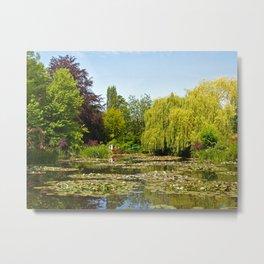 Summer Water Garden at Giverny Metal Print