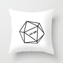 Let's Roll! D20 Throw Pillow