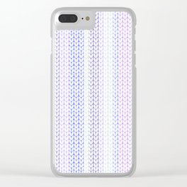 Knitted pattern in pastel colours.3 Clear iPhone Case