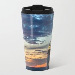 Sunset at Yaquina Head Lighthouse Travel Mug