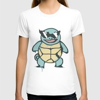 squirtle T-shirts featuring Ash's Squirtle (Squirtle Squad Leader) by Studio Momo╰༼ ಠ益ಠ ༽