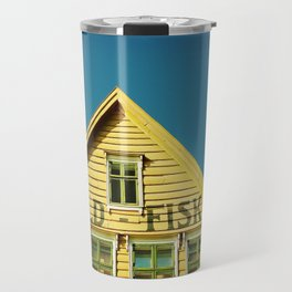 Sunny Yellow House Travel Mug