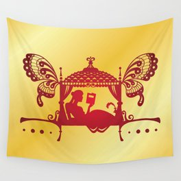 Bridal Palanquin India.doli silhouette Wall Tapestry