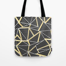 Ab Lines 2 Gold Tote Bag