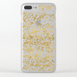 Chic Glam Confetti Dots Clear iPhone Case