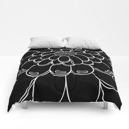 UMA FLOR black Comforters
