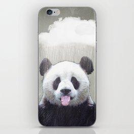 Panda Rain iPhone Skin