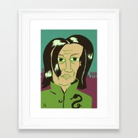 snape Framed Art Prints featuring Snape by Arlin Ortiz