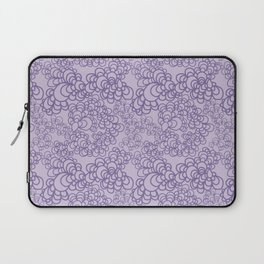 Purple Flower Doodle Laptop Sleeve