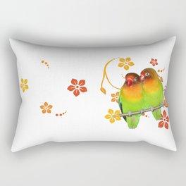 Two lovebirds Rectangular Pillow