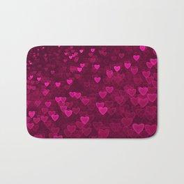 Valentine's Day | Romantic Crimson Galaxy | Universe of pink purple hearts Bath Mat