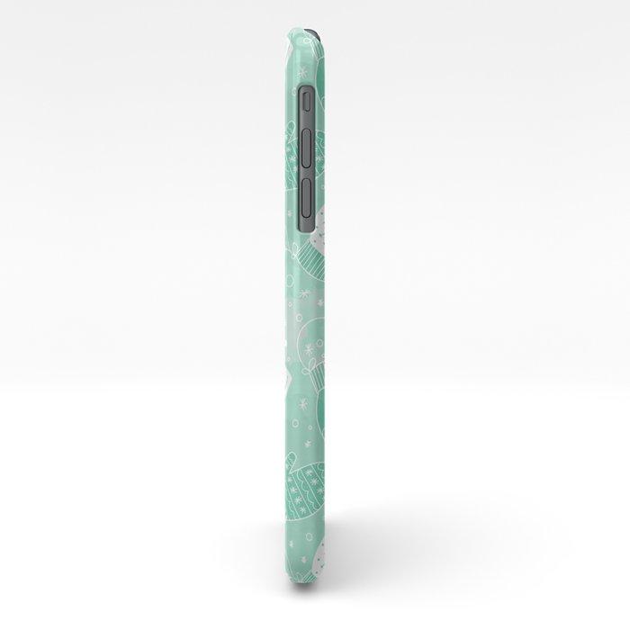 Winter Mittens Mint iPhone Case