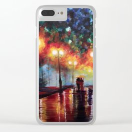 Ted and Tracy Mosby Clear iPhone Case