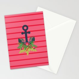 Holiday Greens Anchor Stationery Cards