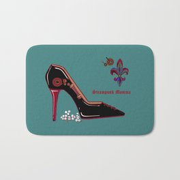 A Steampunk Pump, Stiletto, Steampunk Momma Bath Mat